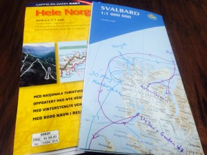 Maps of Norway and Svalbard.